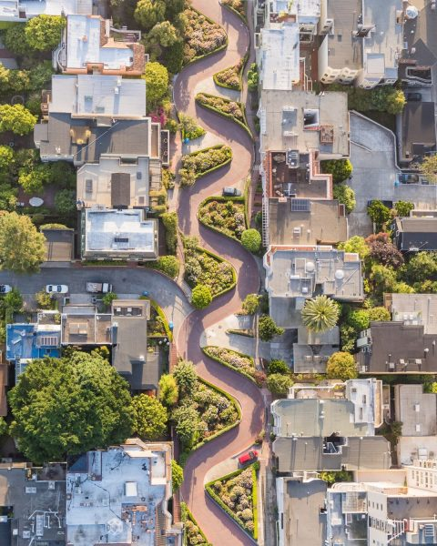 Lombard Street, San Francisco, California. Toby Harriman/National Geographic Travel Photographer of the Year Contest